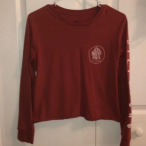 billabong long sleeve crop top